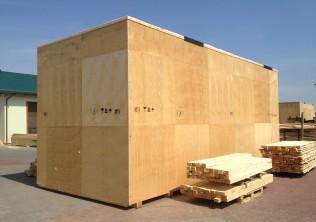 Drewniane skrzynie transportowe